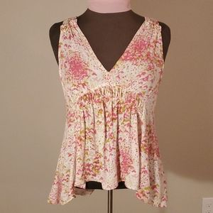 "ANTHROPOLOGIE ""Bretta"" Floral Hi/Low Tank by MAEVE"